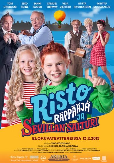Risto Räppääjä ja Sevillan saituri -elokuvan ensi-ilta 13.2.2015