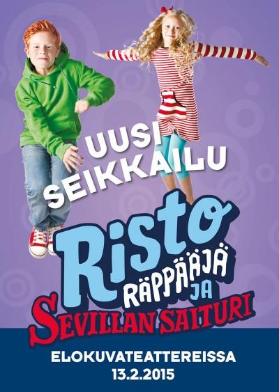 Risto Räppääjä ja Sevillan saituri -elokuvan kuvauksetalkaneet kesällä 2014